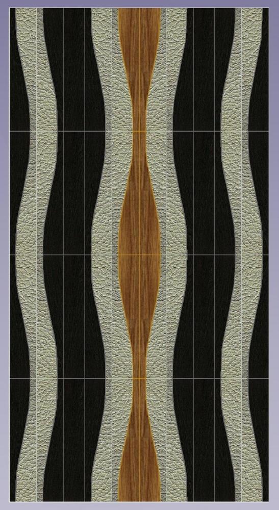 WAVES possibile combinazione legno-pelle