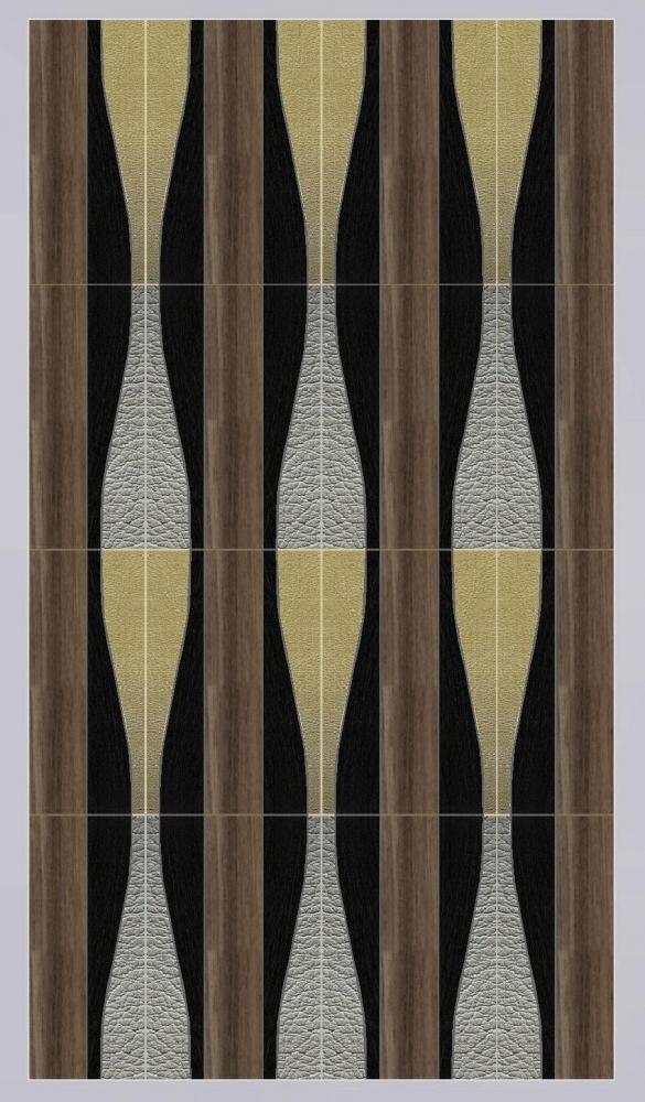 WAVES combinazione legno e pelle
