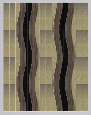 WAVES combinazione onde legno e pelle