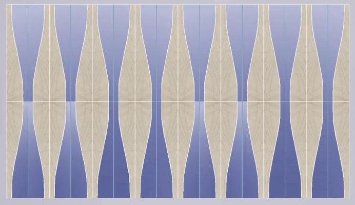 WAVES legno e pelle azzurra