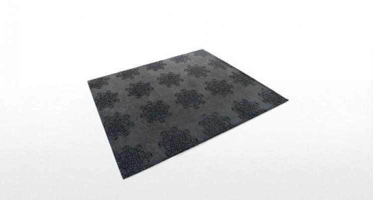 Tappeto Arabesque grigio scuro di Paola Lenti