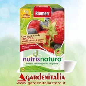 Linea Nutrisnatura Blumen, concime per coltivazione fragola ananassa
