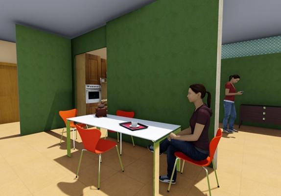 Compartimentazione ambienti con pannelli in laminato