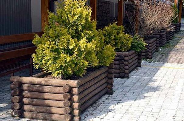 Fioriera da giardino in legno impregnato