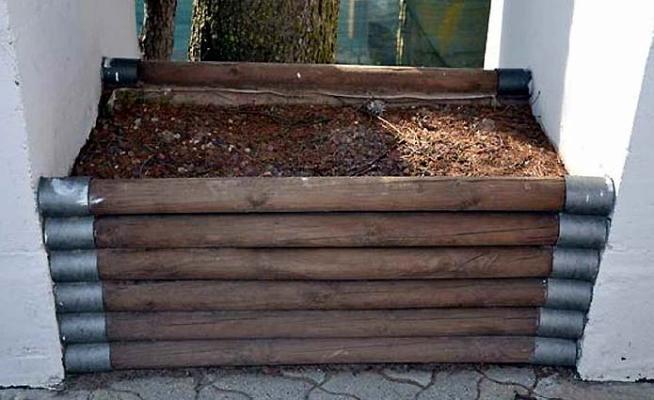 Fioriera legno impregnato