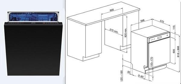 Foto lavastoviglie da incasso come installarle for Lavastoviglie misure standard
