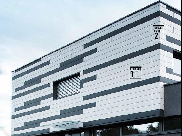 Rivestimenti per facciata in doghe di alluminio di PREFA