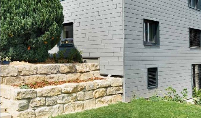 Rivestimenti facciata doghe in alluminio di PREFA