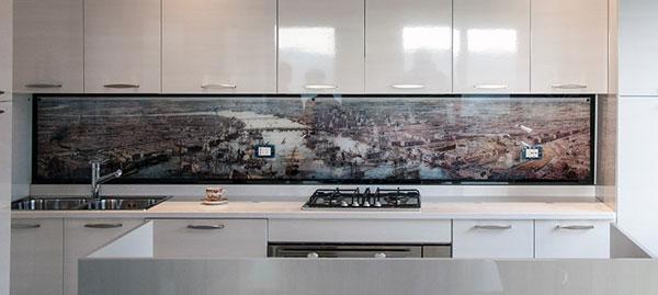 Fascia di tamponamento in vetro temperato e decorato by VENETO VETRO