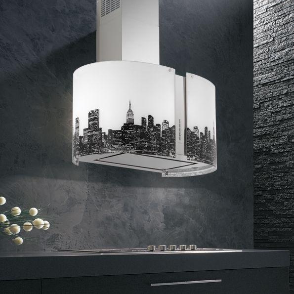Cappa in vetro e acciaio modello New York di Falmec