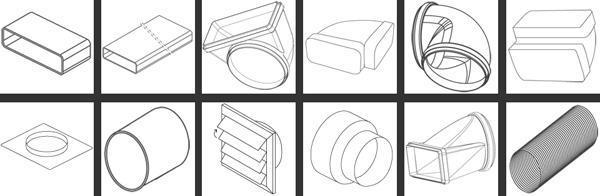 Tubo cappa aspirante for Raccordi per tubi in rame e plastica