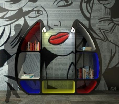 Libreria a parete Shelley di Zad Ital