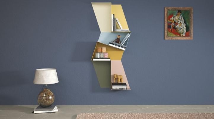 Libreria Slide di Lago a composizione verticale