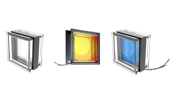 Tipi di mattoni in vetro fotovoltaico di SBskin