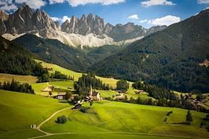 panorama nella provincia di Bolzano