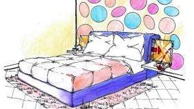 Idea progettuale di letto matrimoniale alla francese trasformabile
