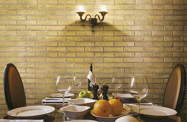 Mattone da rivestimento: collezione Venis, Gold di Brick Generation by Rondine
