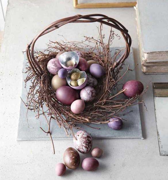 Cestino pasquale centrotavola a nido di Martha Stewart