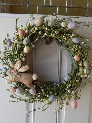 Ghirlanda porta per Pasqua di Etsy
