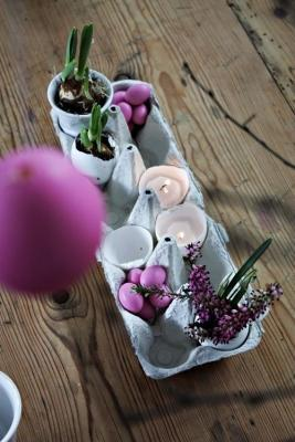 Idea decorazione riciclo scatola uova di Frugal&Thriving
