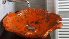Scenografici lavabi da appoggio per il bagno contemporaneo