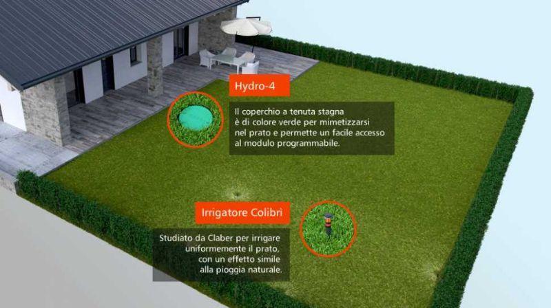 Sistemi di irrigazione interrata per giardini di Claber