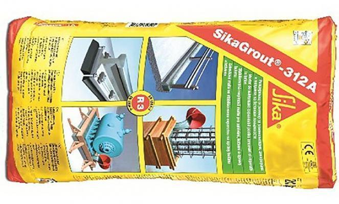 La confezione della SIKA della malta per ancoraggio