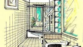 Progettare un bagno stretto e lungo