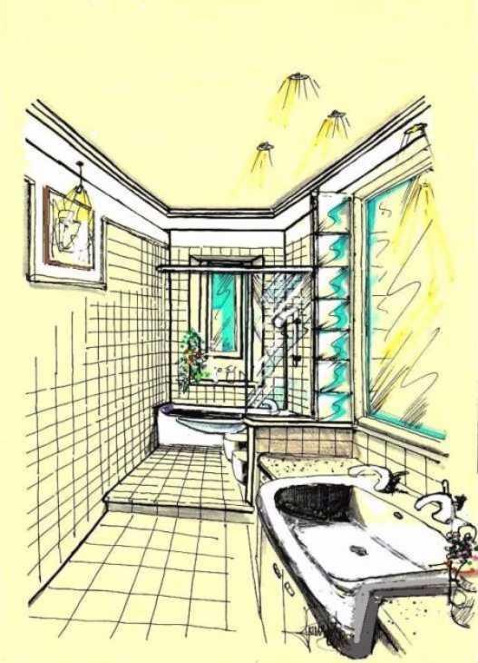 Edilbook ristrutturazioni progettare un bagno stretto e lungo - Disegnare bagno gratis ...