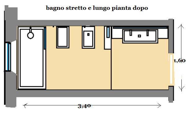 Bagno stretto e lungo come progettarlo - Programma per progettare bagno ...