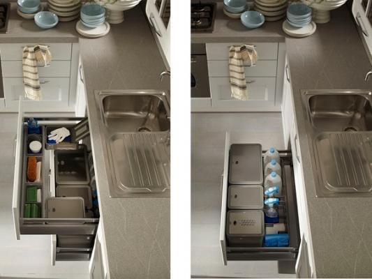 Arredare una cucina: Dibiesse, sottolavello attrezzato