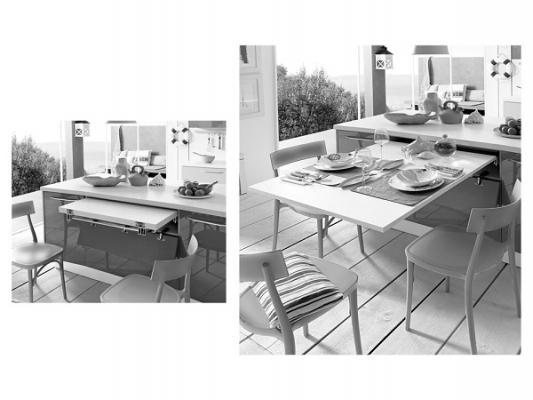 Arredare una cucina - Cucina con tavolo estraibile ...