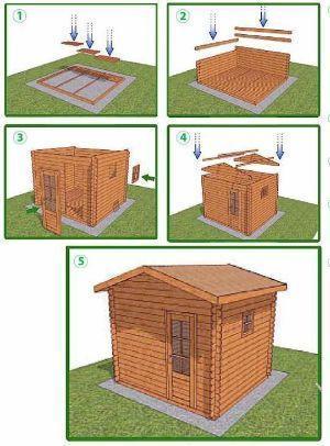 Istruzioni montaggio casetta a incastro