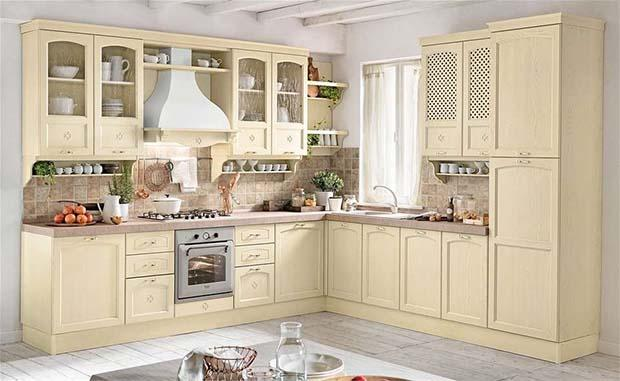 Cucine classiche rustiche e in legno modelli e for Cucina classica bianca