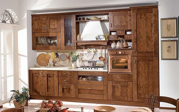 Cucine classiche rustiche e in legno modelli e - Cucine componibili con lavastoviglie ...