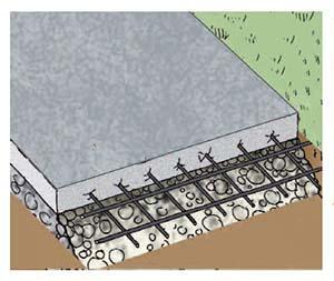 Soletta in calcestruzzo per casette in legno da giardino