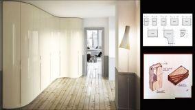 Camere da letto e armadio angolare curvo