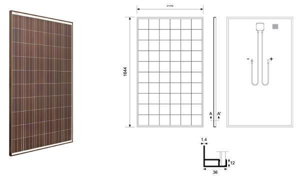 Schema di pannello fotovoltaico rosso di SPSistem Srl
