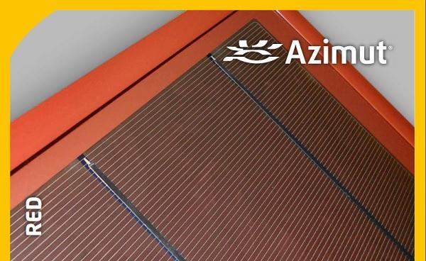 Pannelli fotovoltaici rossi dettaglio di Azimut®