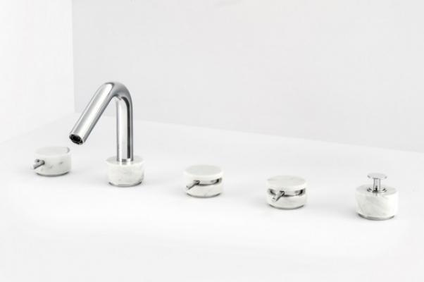 Miscelatore in marmo per vasca di IB Rubinetterie