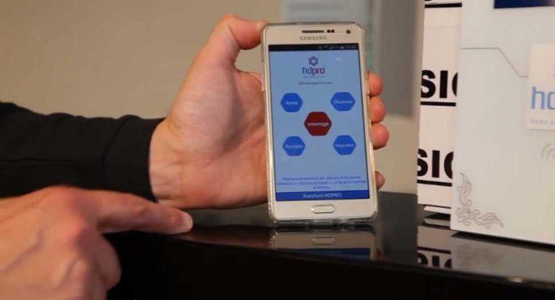Impianto allarme senza fili professionale, controllabile dallo smatphone