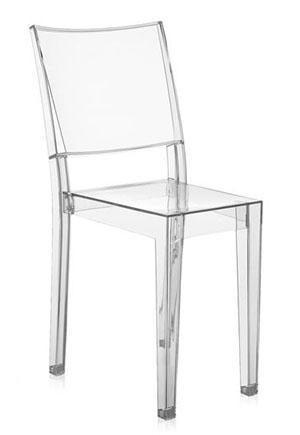 Sedia La Marie in plexiglass trasparente dell'azienda Kartell.