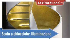 Scala a chiocciola: come illuminarla