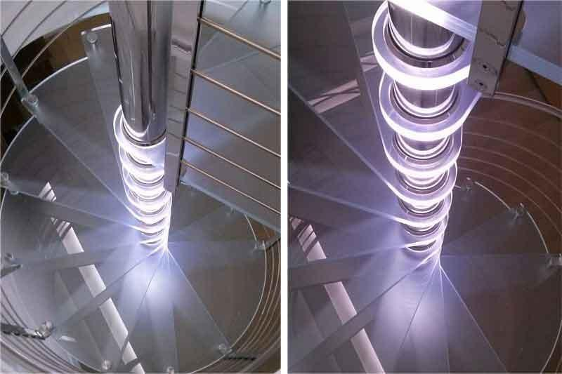 Foto scala a chiocciola come illuminarla