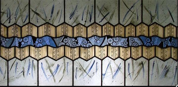 Vetrata artistica a composizione modulare, di Iko Studio.