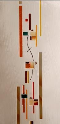 Pannello in vetrofusione ispirato all'arte contemporanea, by.