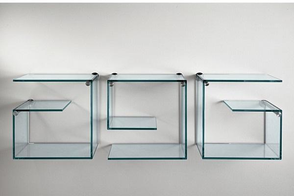 Mensola di design - Bibliotheque en verre design ...