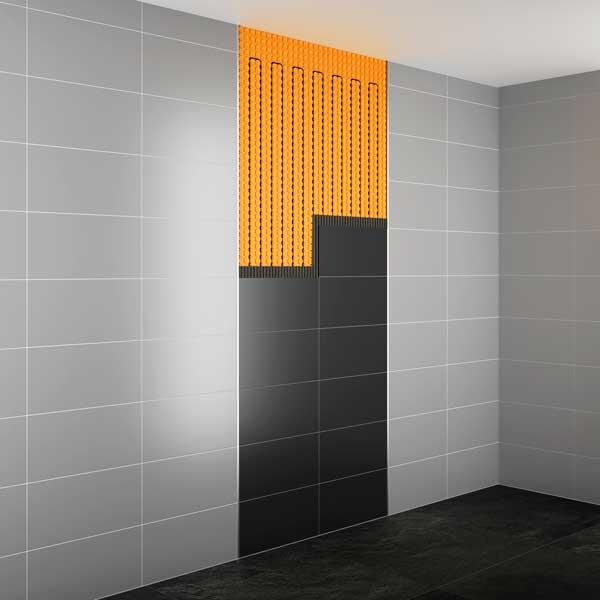 Distinguere visivamente le porzioni di superfici contenenti i sistemi di riscaldamento Schlüter®-DITRA-HEAT-E
