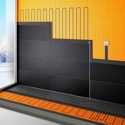 Sistema di riscaldamento elettrico a pavimento e parete schlüter-ditra-heat