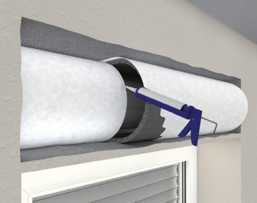 Isolare le finestre, schiuma sistema di isolamento nel cassonetto ROKA-THERMO-FLEX NEOLINE di Beck+Heun
